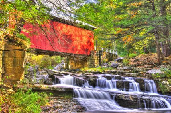 Somerset County Photograph - Pa Country Roads - Pack Saddle / Doc Miller Covered Bridge Over Brush Creek No. 11 - Somerset County by Michael Mazaika