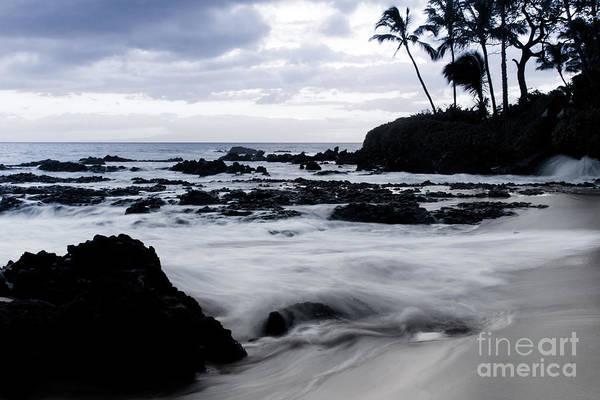 Photograph - Paako Beach Sunset Blue Tones by Sharon Mau