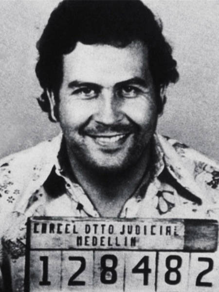 Court Photograph - Pablo Escobar Mug Shot 1991 Vertical by Tony Rubino