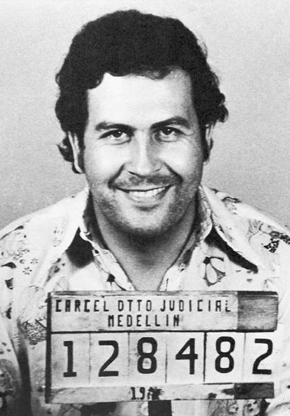 Mugshot Wall Art - Photograph - Pablo Escobar Mugshot by Digital Reproductions