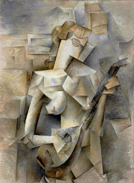 Painting - Pablo Picasso Girl With A Mandolin 1910 by Movie Poster Prints