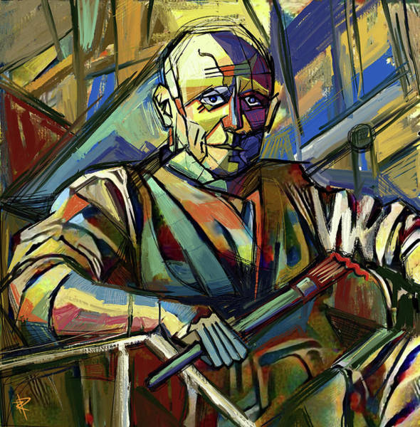 Wall Art - Mixed Media - Pablo Picasso by Russell Pierce