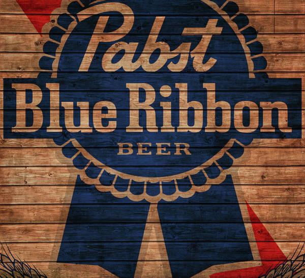 Mixed Media - Pabst Blue Ribbon Barn Door by Dan Sproul