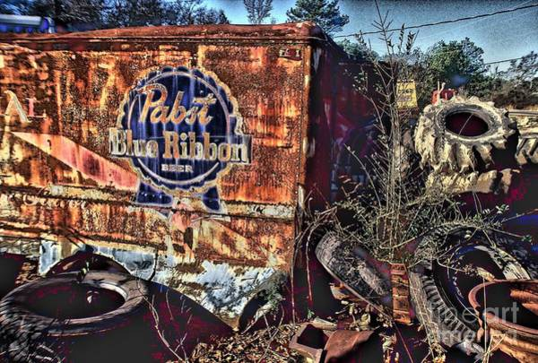 Conyers Photograph - Pabst Blue Ribbon Delievery Truck by Corky Willis Atlanta Photography