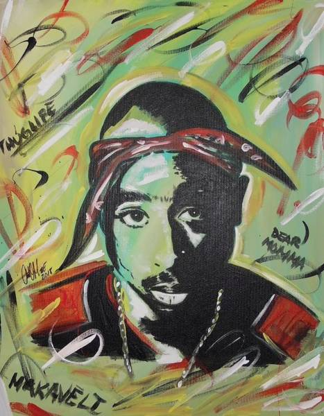 Painting - Pac Mentality by Antonio Moore