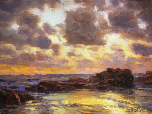 Oregon Coast Wall Art - Painting - Pacific Clouds by Steve Henderson