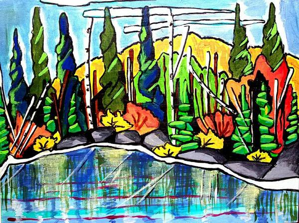 Painting - Pacific Coast Forest by Nikki Dalton