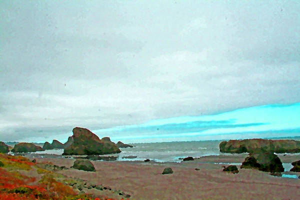 Photograph - Pacific Coast Rocks by Joseph Coulombe