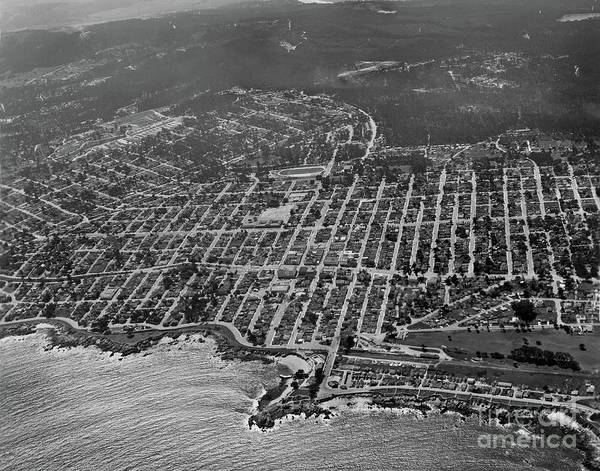 Photograph - Pacific Grove And Lovers Point From Above The Monterey Bay 03/2 by California Views Archives Mr Pat Hathaway Archives