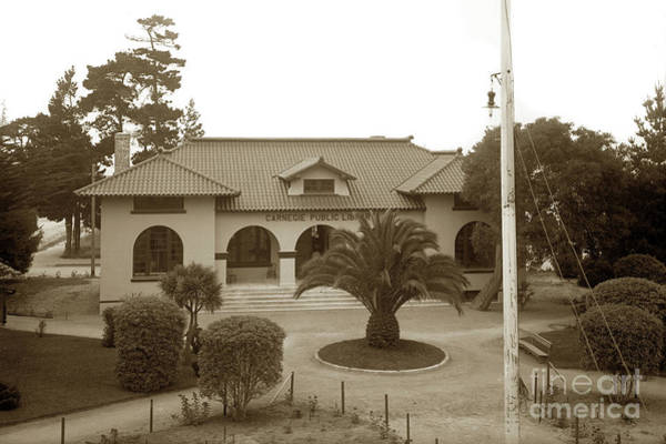 Photograph - Pacific Grove Carnegie Public Library Circa 1908 by California Views Archives Mr Pat Hathaway Archives