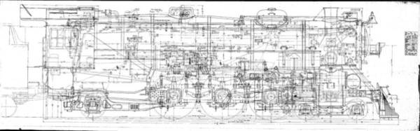 Drawing - Pacific Locomotive Diagram by Baltimore and Ohio Railroad