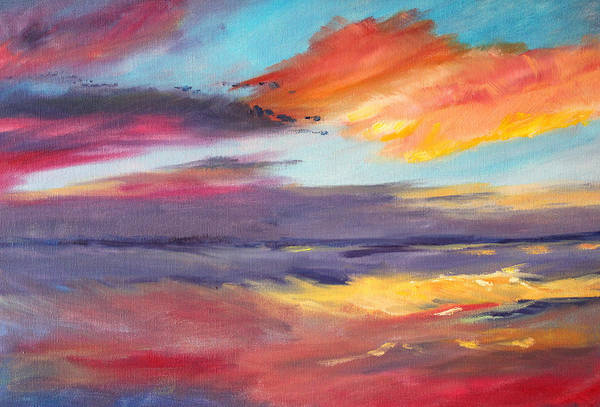 Wall Art - Painting - Pacific Morning by Nancy Merkle