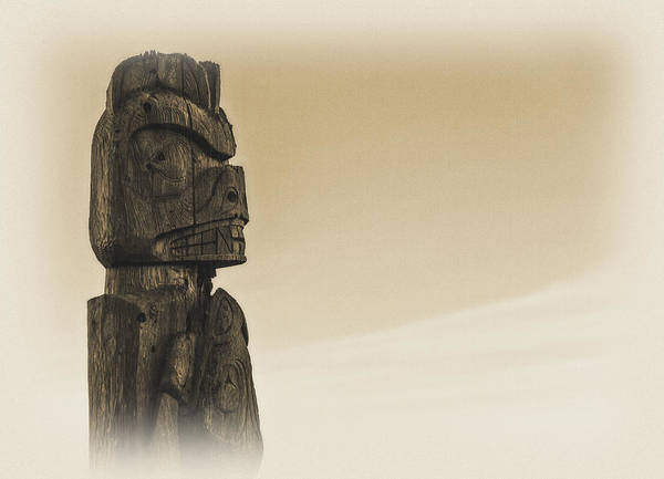 Totem Pole Wall Art - Photograph - Pacific Northwest Totem Pole Old Yellow by Pelo Blanco Photo