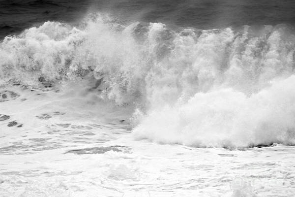 Photograph - Pacific Ocean Breakers Black And White by Adam Jewell