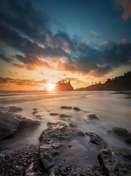 Wall Art - Photograph - Pacific Sunset At Olympic National Park by William Freebilly photography