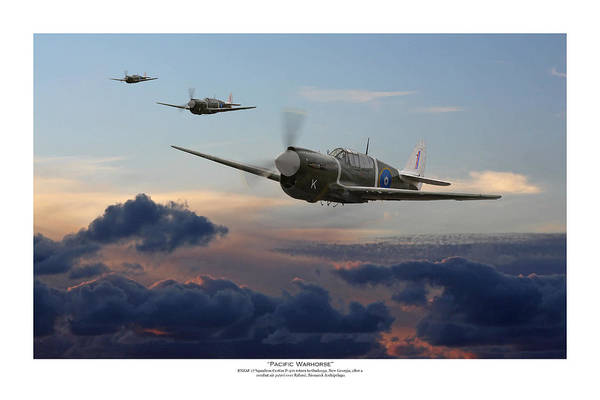 Royal Air Force Digital Art - Pacific Warhorse - Rnzaf Version - Titled by Mark Donoghue