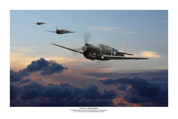 Wall Art - Digital Art - Pacific Warhorse - Usaaf Version -  Titled by Mark Donoghue