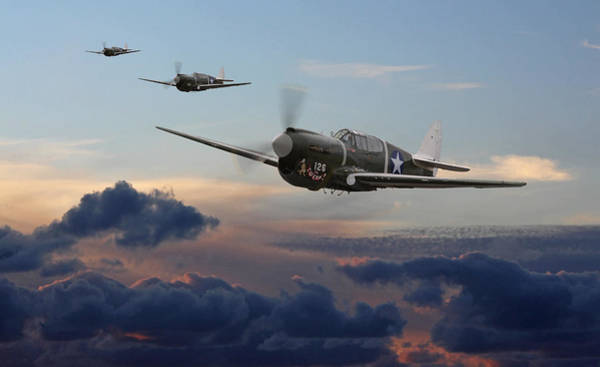Wall Art - Digital Art - Pacific Warhorse - Usaaf Version by Mark Donoghue