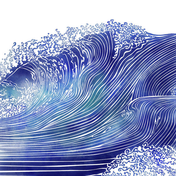 Wave Wall Art - Mixed Media - Pacific Waves by Stevyn Llewellyn