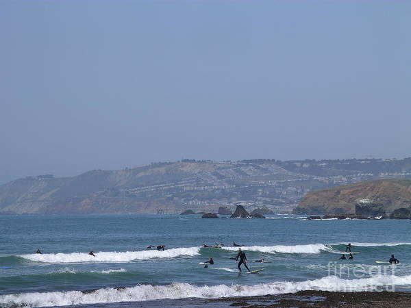 Photograph - Pacifica Surfing by Cynthia Marcopulos