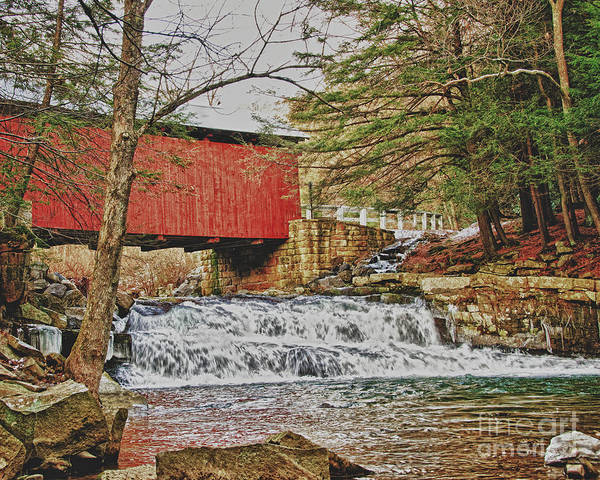Somerset County Photograph - Pack Saddle Covered Bridge by Timothy Flanigan