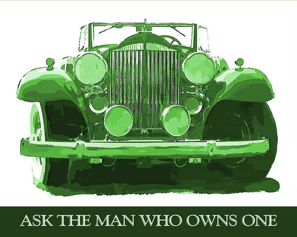 Digital Art - Packard Ask The Man Green by David King