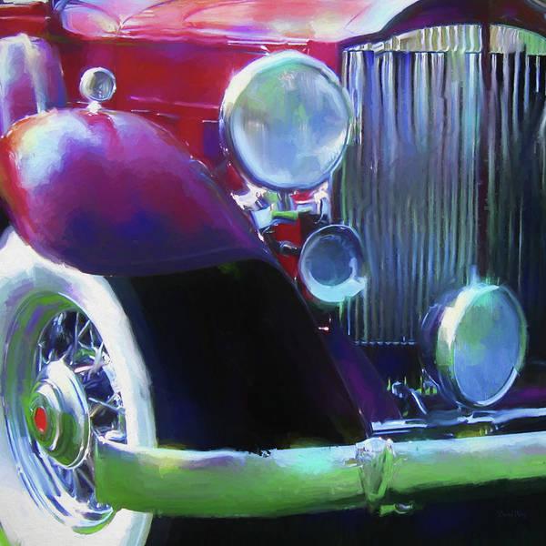 Digital Art - Packard Close Up by David King