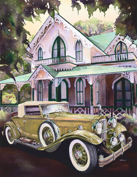 1932 Wall Art - Painting - Packard Golf And Greens by Mike Hill