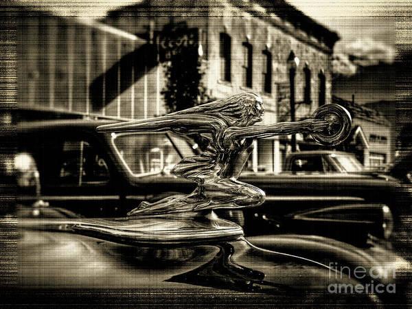 Photograph - Packard Hood Ornament by Tony Baca