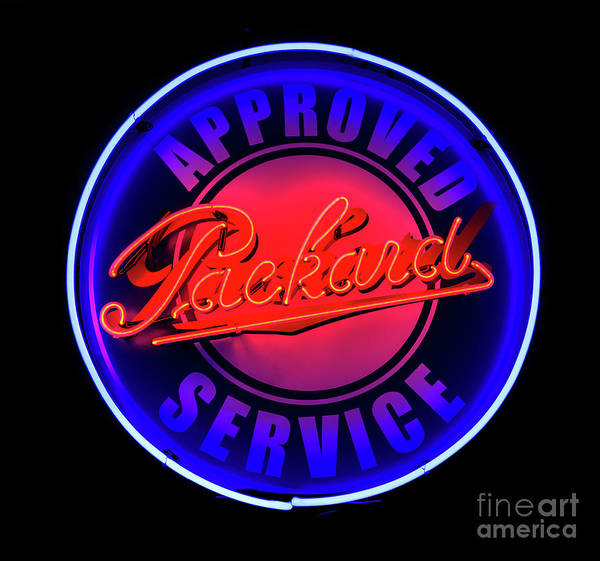 Photograph - Packard Neon Sign by Miles Whittingham