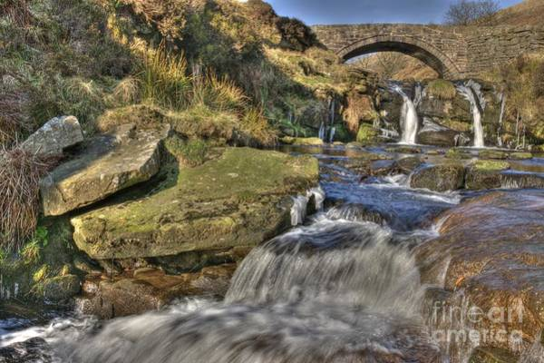 Photograph - Packhorse Bridge At Three Shires Head by David Birchall