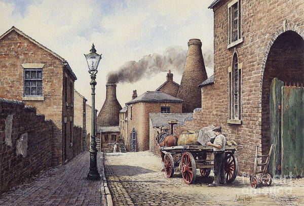 Wall Art - Painting - Packhorse Lane Burslem by Anthony Forster