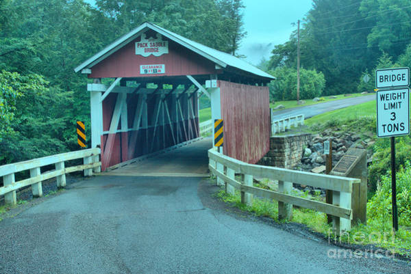Somerset County Photograph - Packsaddle Covered Bridge by Adam Jewell