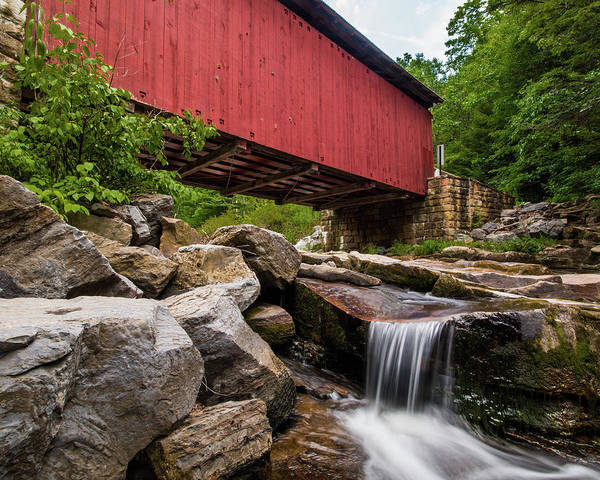 Somerset County Photograph - Packsaddle Covered Bridge by Jim Cheney