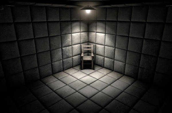 Pads Digital Art - Padded Cell And Empty Chair by Allan Swart