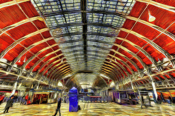 Wall Art - Photograph - Paddington Station London Van Gogh by David Pyatt
