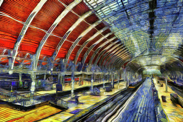 Wall Art - Photograph - Paddington Station Van Gogh by David Pyatt