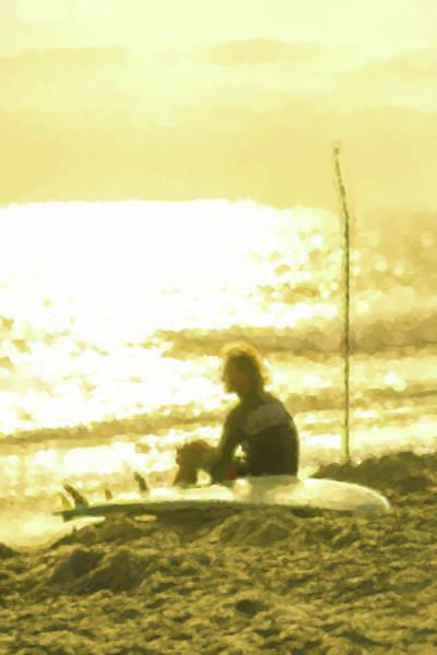 Digital Art - Paddle Board Sunset Meditation by Scott Campbell