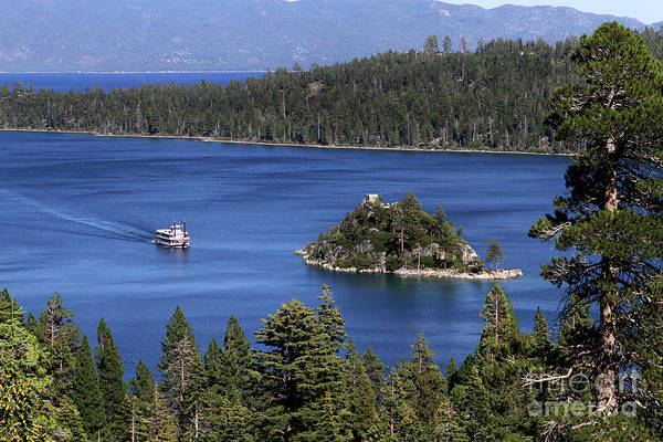 Photograph - Paddle Boat Emerald Bay Lake Tahoe California by Steven Frame