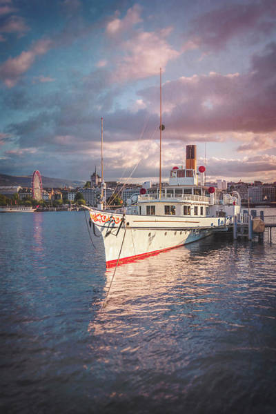 Lake Geneva Wall Art - Photograph - Paddle Steamer Simplon Lake Geneva Switzerland by Carol Japp