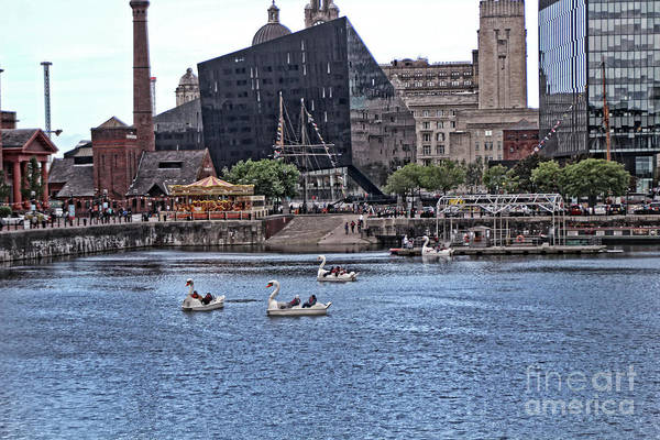 Photograph - Paddleboats And The Equator Building - Liverpool  by Doc Braham
