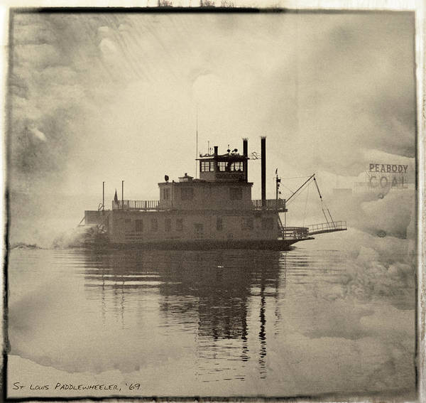 Photograph - Paddlewheel On The Mississippi 1969 by Garry McMichael