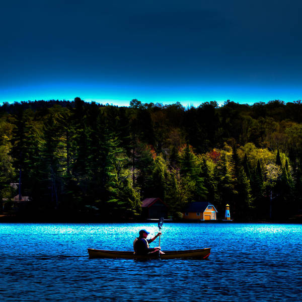 Photograph - Paddling At Sunset - Old Forge Pond by David Patterson