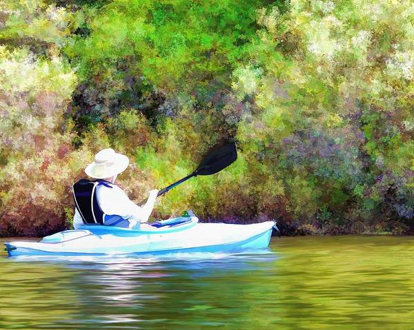 Painting - Paddling My Own Canoe by Nature Scenes