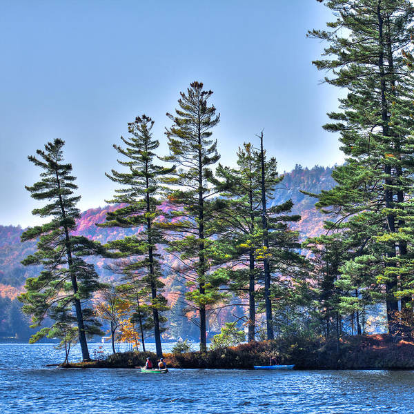 Chain Of Lakes Photograph - Paddling The Fulton Chain Of Lakes by David Patterson