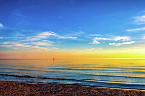 Sauble Beach Photograph - Paddling To The Sun by Steve Harrington