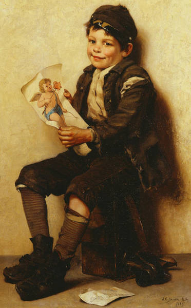 Happy Boy Painting - Paddy's Valentine by John George Brown