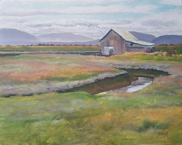 Skagit Valley Painting - The Bird House by Jennifer Ann McGill