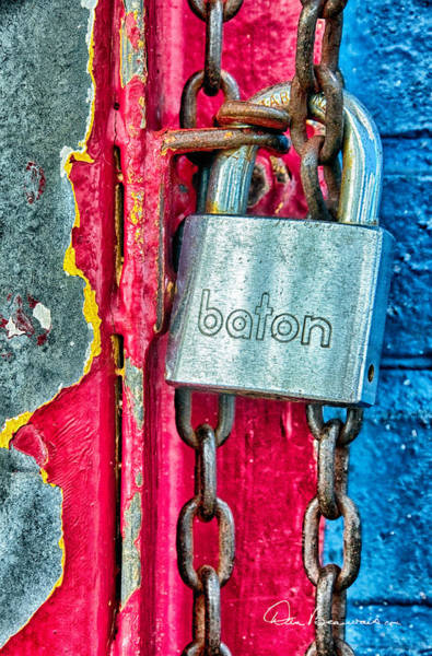 Photograph - Padlock 0438 by Dan Beauvais