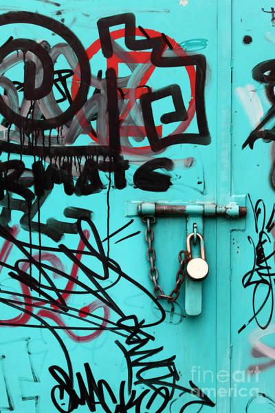 Photograph - Padlock And Graffiti by James Brunker